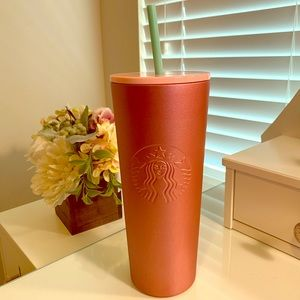 LIMITED EDITON Rose Gold Starbucks cup